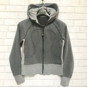 Lululemon Scuba Jacket Hoodie Fleece Grey 6